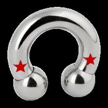 Titanium Star Circular Barbell