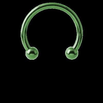 Anodized Titanium Micro Circular Barbell Ear