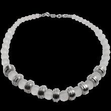 Quartz Beads with Steel Element Necklace