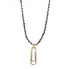 Long Necklace with Paper Clip
