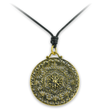 Necklace with Brass Tribal Pendant