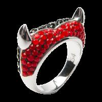 Crystal Devil Heart Ring