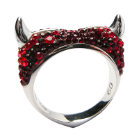 Crystal Devil Heart Ring
