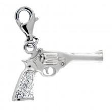 Crystal Gun Charm