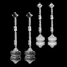Crystal Sleek Donut Earrings