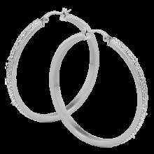 Pair of Steel Crystal Hoop Earrings - Large