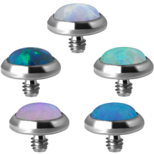 Titanium Synthetic Opal Disc (for 1.6 Internally Thread Jewelry)