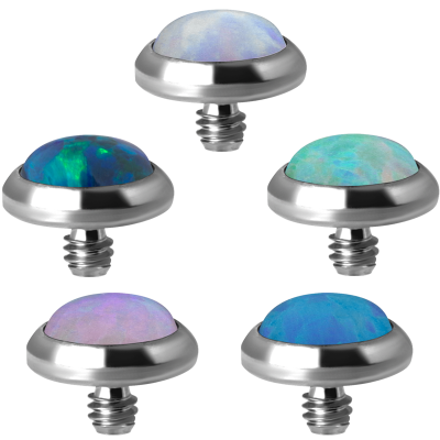 Titanium Synthetic Opal Disc (for 1.6 Internally Thread Jewelry) Balls & Attachments