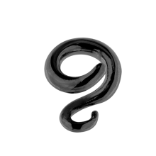 Black Rhodium Silver Spiral Hanger