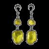 Lemon Quartz Black Rhodium Silver Pendants (price for pair) Gioielli da lobo
