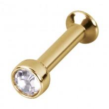 Gold Titanium Mini Base for Triple Piercing Labret