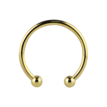 Gold PVD Micro Megacuff Bracelet