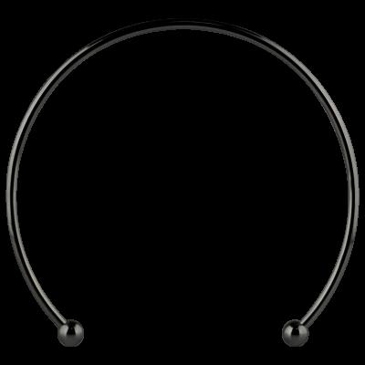 Black PVD Micro Mega Cuff Collar Necklace