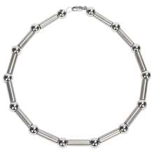 Steel Ball and Tube Necklace