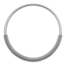 Surgical Steel Cobra Coil Necklace