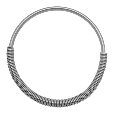 Surgical Steel Cobra Coil Necklace Necklace