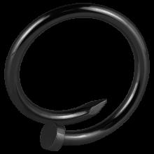 Black PVD Enlarging Earring Nail
