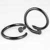 Black PVD Enlarging Earring Nail Orecchio