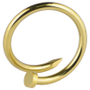 Gold PVD Enlarging Earring Nail Orecchio