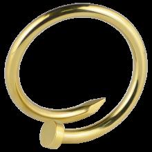 Gold PVD Enlarging Earring Nail