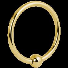 Gold Steel Mega Ball Closure Ring