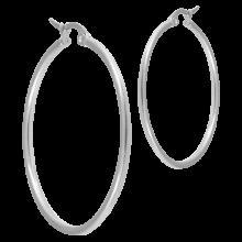 Steel Round Hoop Earrings