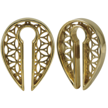 Brass Ethnic Weight Earrings (price for pair)