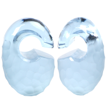 Small Solid Martele Ovoids Gorilla Glass® Ear Weights