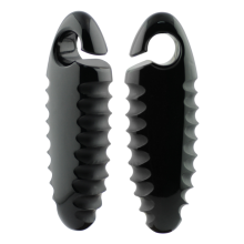 Black Hive Cocoons Gorilla Glass® Ear Weights