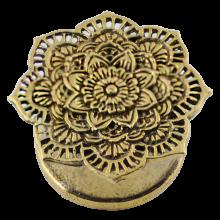 Brass Mandala Ear Plug (Price for Pair)