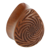 Rose Wood Tear Drop Plug Orecchio
