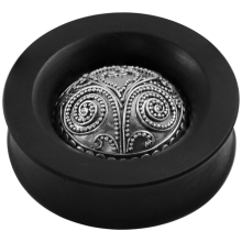 Ebony Plug with Silver Indian Ornament (Price for Pair)
