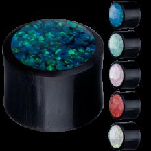 Opal Inlay Horn Plug