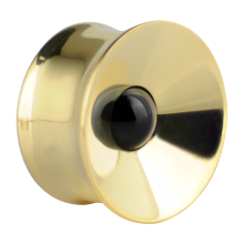 Concave Brass Plug with Onyx Stone (Price for Pair)