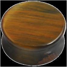 Blue Tiger Eye Stone Plug (Price for Pair)