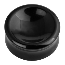 Natural Stone Double Concave Plug Onyx (Sold in Pair)