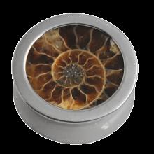 Titanium Plug with Natural Ammonite