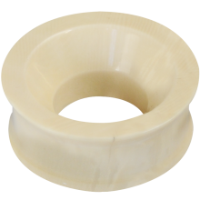 Mammoth Ivory Concave Ear Tunnel (Price for Pair)