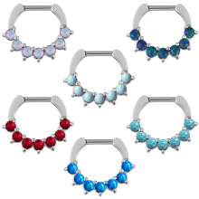Steel Septum Clicker with Synthetic Opal
