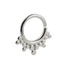 Silver Indian Ornament Septum Ring