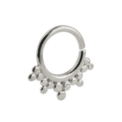 Silver Indian Ornament Septum ring Septum