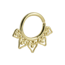 Silver Gold Plated Indian Ornament Septum Ring