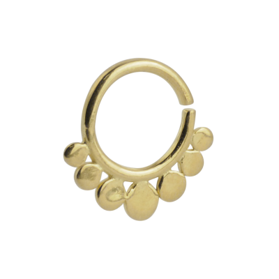 Silver Gold Plated Indian Ornament Septum ring Septum