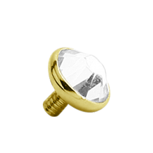 18K Gold Jewelled Disc Attachment (For 1.6 Internally Threaded Jewellry)