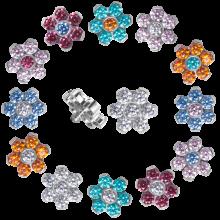 Titanium Flower Component with Swarovski Zirconia (for 1.2 internally jewelry)