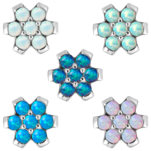 Steel Flower with Synthetic Opal (for 1.6mm Attachment)