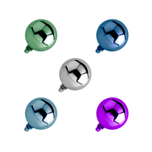 Titanium Ball (for 1.6 Internally Threaded Jewelry)