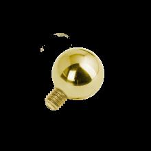 18K Gold Internal Attachment 2.5mm Ball (For 1.6 Internally Threaded Jewellry)