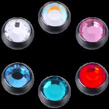 Blackline® Threaded Jewelled Ball