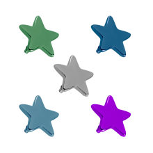 Titanium Flat Star (for 1.6 Internally Threaded Jewelry)